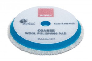 Rupes niebieski pad futro polerskie z wełny 130/145 mm COARSE | Rupes 9.BW150H